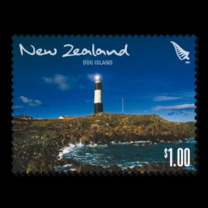 Single $1.00 'Dog Island' gummed stamp.