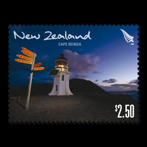 Single $2.50 'Cape Reinga' gummed stamp.